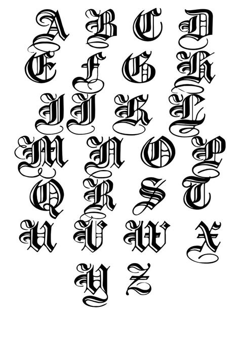 letters | Tattoo lettering fonts, Calligraphy alphabet, Graffiti lettering