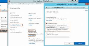 Configure Email Forwarding in Exchange 2013 Using EMS