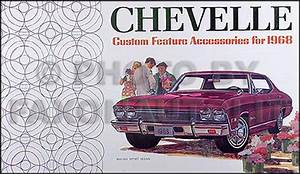 1968 Chevelle Wiring Diagram Manual Reprint Malibu  Ss  El Camino