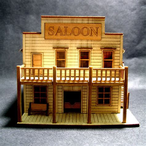 salon wooden model kit diorama  ho scale wood miniature