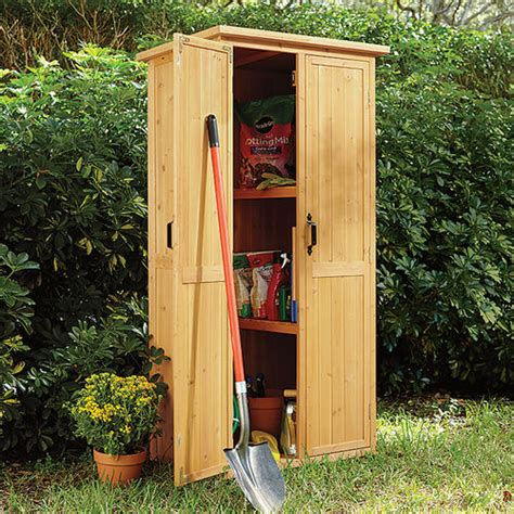 vertical garden shed vertical storage shed at brookstone buy now