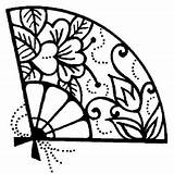 Fan Oriental Japanese Drawing Hand Tattoo Graphic Umbrella Fans Rubber Coloring Google Clipart Stamps Getdrawings Stamp Impressions Personal Hobbycraft Direct sketch template