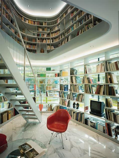 creative l design home library ideas