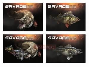 Autocollant De Marque : autocollant savagear fish cartoon 4 pcs mat riel pour p che savagear ~ Gottalentnigeria.com Avis de Voitures