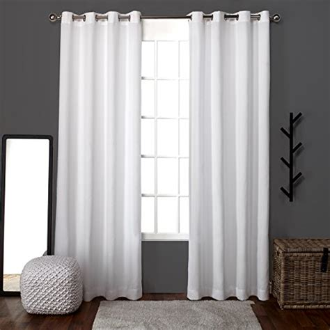 White Curtains Drapes - white linen curtain panels