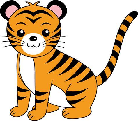 cartoon tiger clip art clipartsco