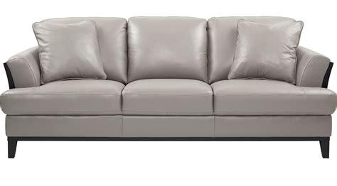 Sofa Leder Grau by Gray Leather Sofa Grey Leather Sofas You Ll Wayfair
