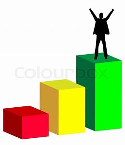 Chart Graph Of Businessman Rise To Success Vector
