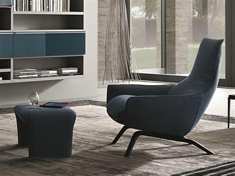 Upholstered Velvet Armchair With Armrests Ermes Atelier