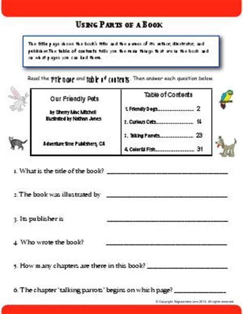 titles tables of contents and chapter headings second