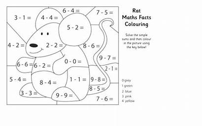 Coloring Worksheets Subtraction Kindergarten Activity Sheets Printable