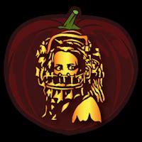 reverse bear trap pumpkin stencil pumpkin stencil