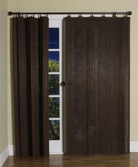 curtain bath outlet espresso bamboo ring top curtain panel