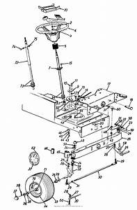 Mtd 134g660g119  1994  Parts Diagram For Steering Assembly