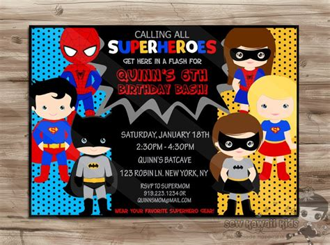 FREE 17+ Superhero Invitation Designs & Examples in PSD ...