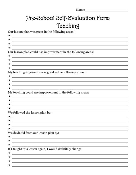 lesson plan feedback form 7 best images of lesson plan evaluation form training