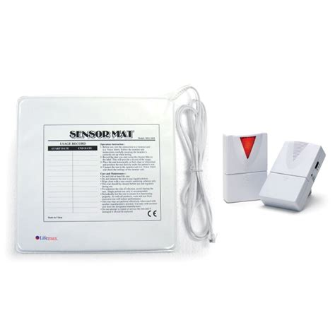 wireless care alarm kit with chair leaving sensor mat