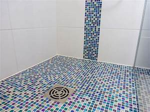 salle de bain mosaique douche italienne With salle de bain italienne mosaique