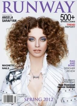 angela sarafyan crepusculo angela sarafyan na revista runway twilight brasil
