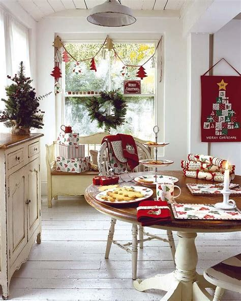 how to decorate your kitchen table 40 cozy christmas kitchen décor ideas digsdigs
