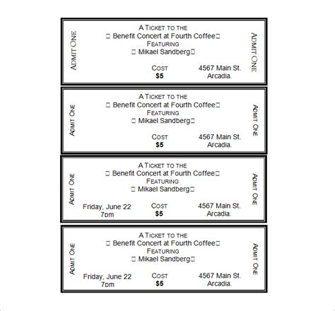 ticket template microsoft word 2007 search results for ticket template printable calendar 2015