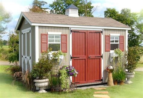 Wood Saltbox Storage Shed