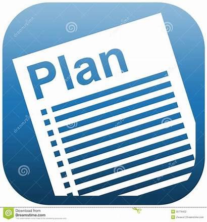 Documento Plan Icon Document Checklist Dell Illustrazione