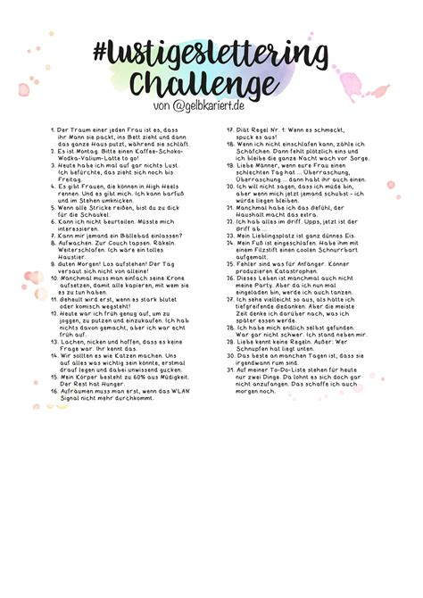 lustigeslettering challenge gelbkariert