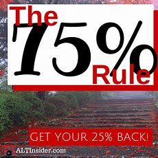 The 75% Rule Getting 25% Of Your Life Back Altinsidercom