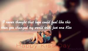 Sweet First Kis... Kiss Day Romantic Quotes