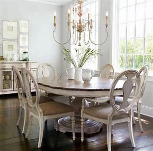 deco et meubles shabby chic dans la salle a manger With plafonnier salle à manger
