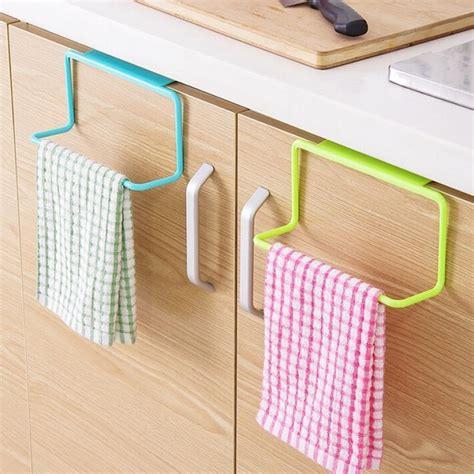 kitchen towel bars ideas metal door tea towel rack bar hanging holder rail