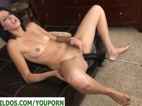Brunette With A Brutal Dildo Fucking Machine Free Porn