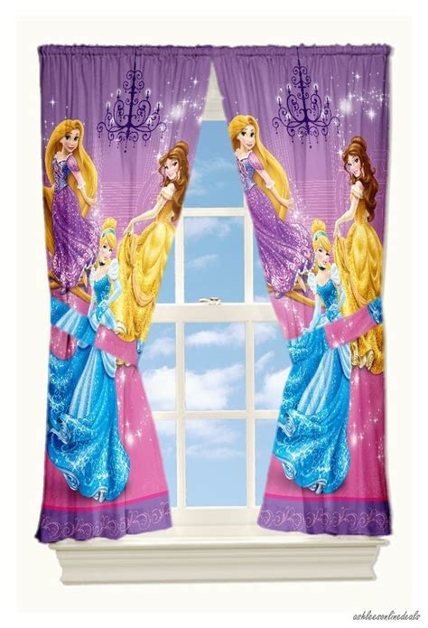 disney princess curtains new disney princesses drapes window curtains 2 panels