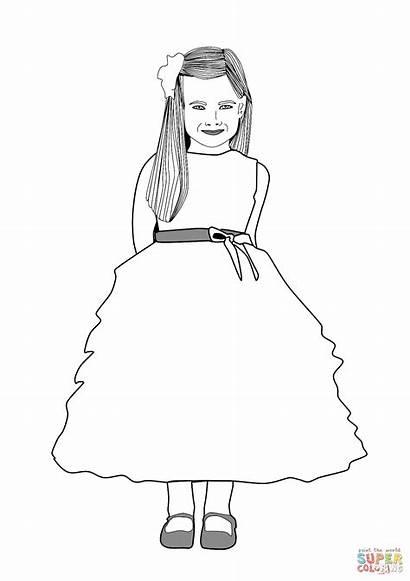 Colorear Dziewczyny Dibujo Dibujos Chica Druku Kolorowanka