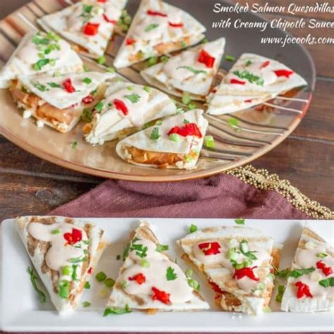 This is a speedy high protein breakfast made extra special by adding smoked salmon and fresh herbs. Mini Smoked Salmon Quesadillas - Jo Cooks