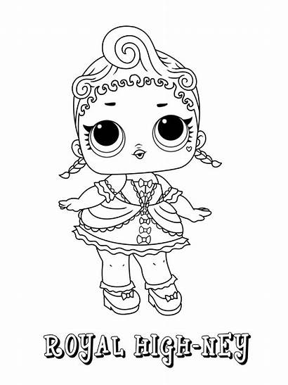 Lol Coloring Pages Doll Surprise Royal Dolls