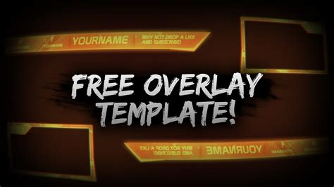 Cool Orange Free Overlay Template Psd