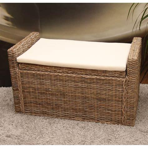 coffre d exterieur pas cher banquette coffre de rangement en kubu naturel et rotin pas cher meubles discount en ligne