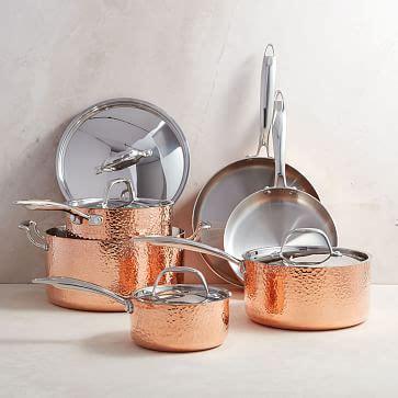 fleischer  wolf seville copper  piece tri ply cookware set west elm