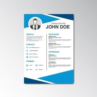 Curriculum Vitae Design Template by Curriculum Vitae Design Vector Free