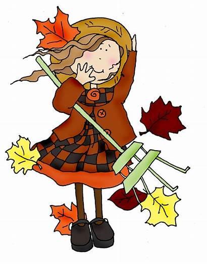 Windy Clipart Clip Autumn Cliparts Fall Wind