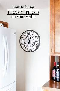 How to hang heavy items on a wall in my own style for What kind of paint to use on kitchen cabinets for make my own wall art