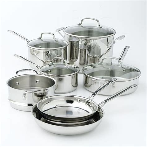 cuisinart chefs classic stainless steel  pc cookware set cookware set cookware set