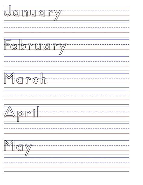 28 handwriting worksheets months mga araw at buwan