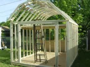 12x24 Barn Shed Plans by Building A Gambrel Shed Youtube