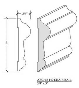 chair rail 140 newood moulding