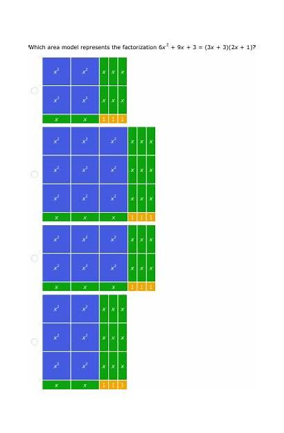 Algebra Tiles Ixl Quadratics Math