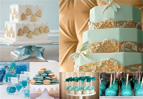 teal turquoise gold wedding cakes treats yay for blue wedding cakes and treats