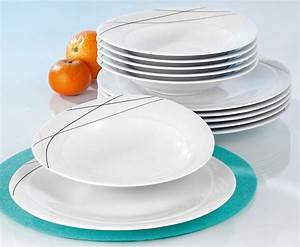 Geschirr Set Weiß : seltmann weiden tafelservice trio highline 12 teilig online kaufen otto ~ Buech-reservation.com Haus und Dekorationen